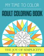 adult coloring book - the joy of simplicity