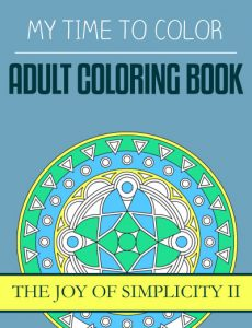 adult coloring book - the joy of simplicity II