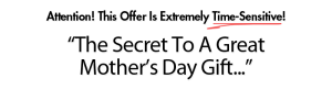 the secret to a great mothers day gift