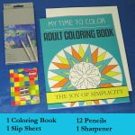 adult coloring kit - economy