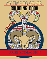 aries zodiac coloring book