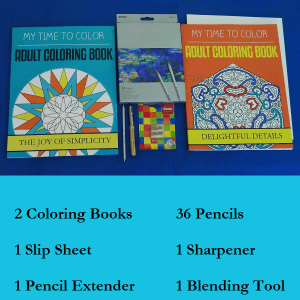 adult coloring kit - premier