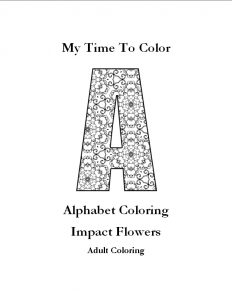 impact flowers alphabet coloring pages