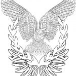 eagle and laurels coloring page