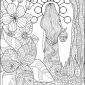woman walking coloring page