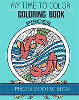 pisces zodiac sign coloring book