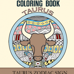taurus zodiac sign coloring book