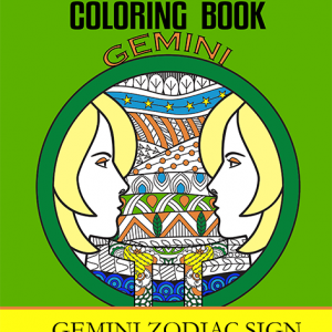 gemini zodiac sign coloring book