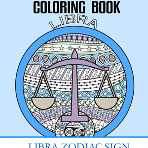 libra zodiac sign coloring book