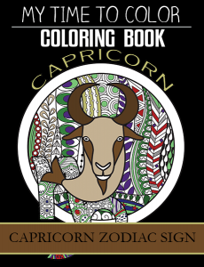 capricorn zodiac sign coloring book