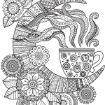printable coloring page - hot tea