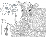 printable coloring page - cow