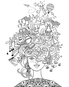 printable coloring page - aquarius