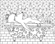 printable coloring page - hedgehog bubble bath