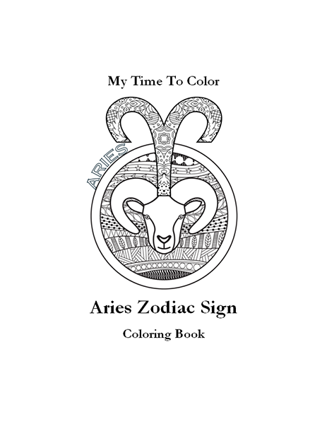 Aries Coloring Book Pdf Cover