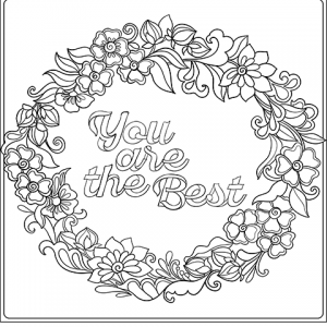 you are the best printable coloring page